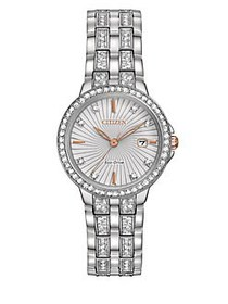Citizen Silhouette Crystal Stainless Steel Link Br
