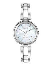 Citizen Axiom Stainless Steel Bracelet Watch SILVE