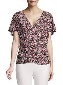 MICHAEL Michael Kors Knotted Ditsy Floral Flutter