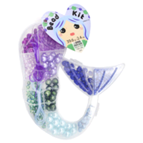 Cousin Plastic Mermaid Container with Purple/Blue/