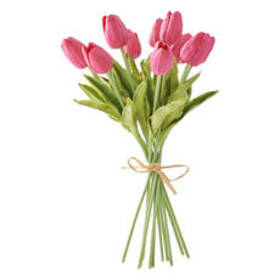 K&K Interiors Real Touch Mini Tulip Bouquet