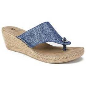 Womens White Mountain Beach Ball Wedge Sandals - B