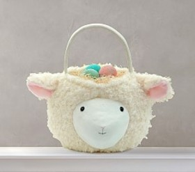 Pottery Barn Lamb Puffy Easter Basket