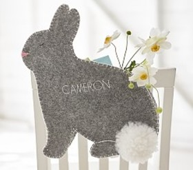 Pottery Barn Gray Bunny Chairbacker