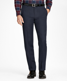 Brooks Brothers Regent Fit Whipcord Wool Trousers