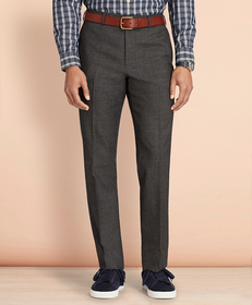 Brooks Brothers Tick-Weave Wool-Cotton Trousers