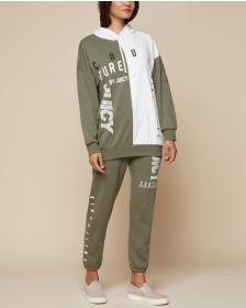 Juicy Couture JXJC Olive Multi-Logo Hooded Pullove
