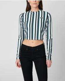 Juicy Couture JXJC Striped Jersey Long Sleeve Top