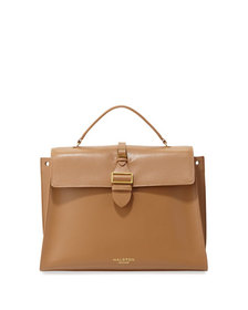 Halston Heritage Leather Top-Handle Satchel Bag