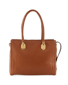 Cole Haan Benson Braided-Handle Leather Tote Bag