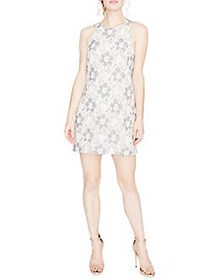 RACHEL Rachel Roy Sleeveless Lace Shift Dress NATU