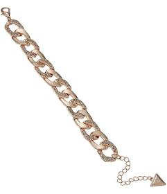 """GUESS Chain Link Bracelet with Pave Accents 7.5"""" w"""