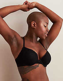American Eagle Aerie Real Happy Plunge Push Up Bra