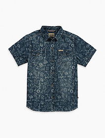 Lucky Brand Light Weight Printed Denim Shirt