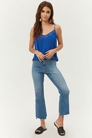 Forever21 Embroidered Lace-Trim Swing Cami