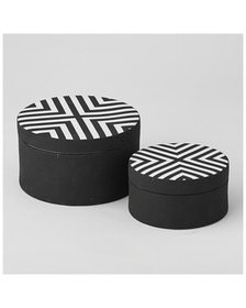 Global Views Chevron Round Box~3050377955