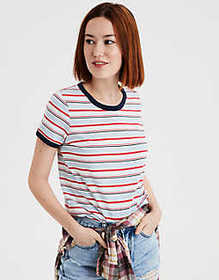 American Eagle AE All Over Striped Tee