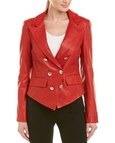 Walter Baker Leather Blazer~1411181802