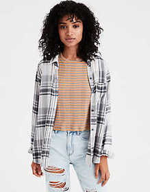 American Eagle AE Ahhmazingly Soft Plaid Boyfriend