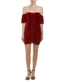 Aiden Lace-Up Cocktail Dress~1411166320