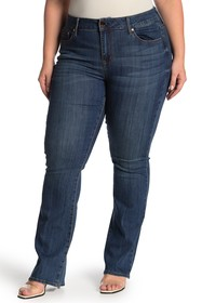Seven7 Mid Rise Micro Boot Cut Jeans (Plus Size)