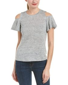 Rebecca Taylor Cold-Shoulder Linen Top~1411905625