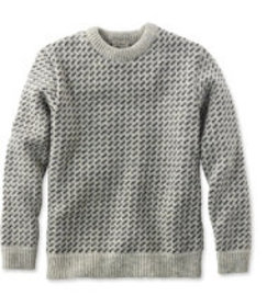 LL Bean Heritage Sweater, Norwegian Crewneck