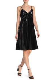 Bailey 44 Love in the Dungeon Metallic Velvet Dres