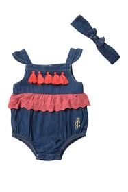 Juicy Couture Sunsuit with Head Band (Baby Girls)