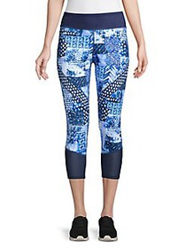 Tommy Bahama Printed Cropped Leggings MARE NAVY