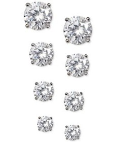 Giani Bernini 4-Pc. Set Cubic Zirconia Stud Earrin