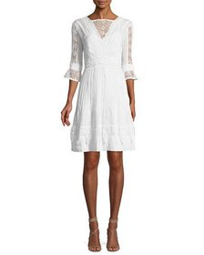 Talitha Collection High-Neck Edwardian-Lace Maxi D