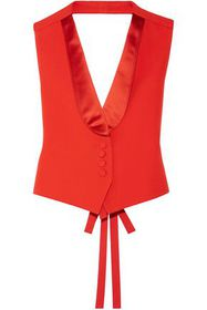 GIVENCHY Cropped satin-trimmed grain de poudre woo
