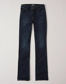 Low Rise Bootcut Jeans, Dark Wash