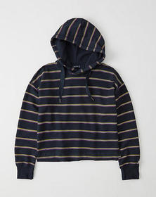 The A&F Comfy Hoodie, NAVY BLUE STRIPE