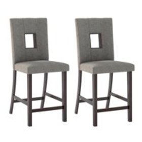 CorLiving Bistro Dining Chairs, Grey Sand Fabric,