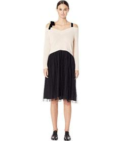 RED VALENTINO Carded Wool Yarn and Point D'Es