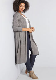 Dollop of Deftness Knit Duster Charcoal
