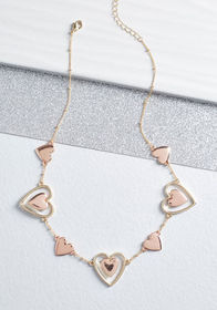 Taken to Heart Necklace Rose Gold