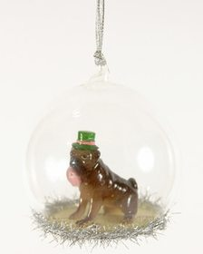 Set of 6 Bulldog Globe Ornaments~3050483336