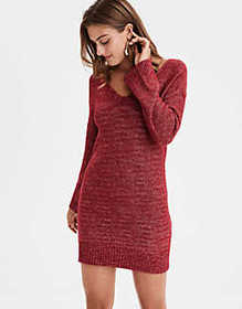 American Eagle AE Tie Back Sweater Dress