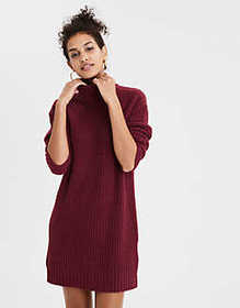 American Eagle AE Mock Neck Sweater Dress