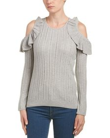 Duffy Cold-Shoulder Wool-Blend Sweater~1411276357