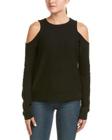Duffy Cold-Shoulder Wool-Blend Sweater~1411407631
