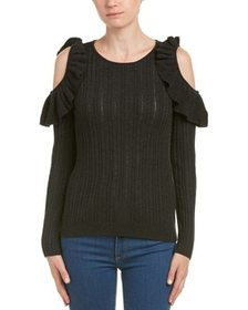Duffy Cold-Shoulder Wool-Blend Sweater~1411276358