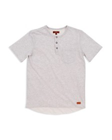 7 For All Mankind - Boys' Quarter-Placket Henley T