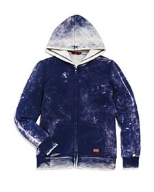 7 For All Mankind - Boys' Distressed Zip-Up Hoodie