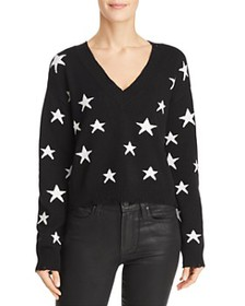 Honey Punch - Star Distressed Cropped Sweater