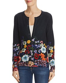 C by Bloomingdale's - Floral Cashmere Cardigan - 1