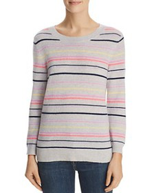 C by Bloomingdale's - Striped Cashmere Sweater - 1